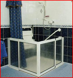 Level access shower installation