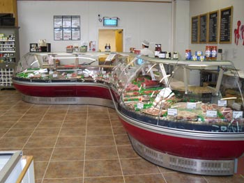 Butchers counter we built and supplied by ourselves