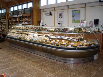 Delicatessen counter built and supplied by ourselves