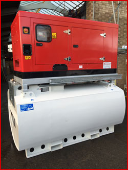 34 kva Silenced Generator on 2000 Litre Bunded Tank With Auto Start