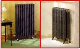 Different styles of radiators
